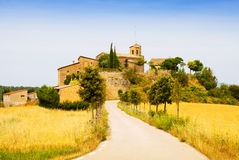 Picturesque view of old Catalan village Stock Photos