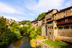 Picturesque view of old Catalan village Stock Photography