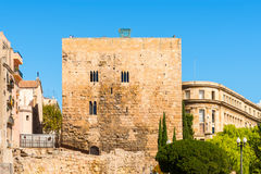 Picturesque view of old houses in Tarragona, Catalonia Stock Image