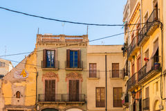 Picturesque view of old houses in Tarragona, Catalonia Stock Photos