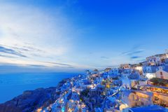 Picturesque view, Old Town of Oia or Ia on the island Santorini Royalty Free Stock Photo