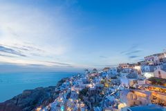 Picturesque view, Old Town of Oia or Ia on the island Santorini Royalty Free Stock Image