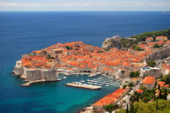 Picturesque View On The Old Town Of Dubrovnik, Cro Royalty Free Stock Photos
