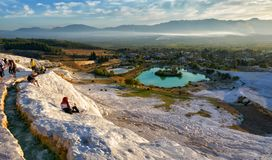 Picturesque view of Pamukkale royalty free stock photo