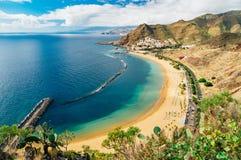 Picturesque view of Playa de las Teresitas beach, Tenerife Stock Image