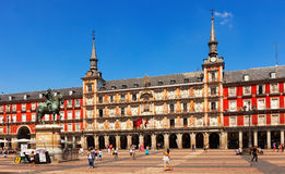 Picturesque view of  Plaza Mayor. Madrid Royalty Free Stock Photo
