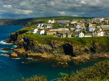 Picturesque view of Port Isaac, fishing in Cornwall Stock Images