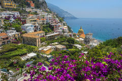 Picturesque view of Positano, Amalfi Coast, Italy. Picturesque view of Positano, cliffside village at the Amalfi Coast, Campania region in Italy stock images