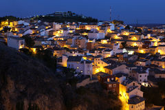 Picturesque view with residence houses in Cuenca, Castilla-La Ma Royalty Free Stock Photography