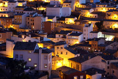 Picturesque view with residence houses in Cuenca, Castilla-La Ma Royalty Free Stock Image