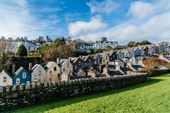 Picturesque view of row houses in small Irish town. Picturesque view of row houses in small Irish coastal town Royalty Free Stock Photo
