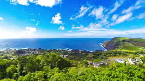 Picturesque view of Sao Miguel island, Azores, Portugal stock footage