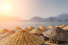 Picturesque view of the sea and mountain on the shore. Marmaris. Turkey Royalty Free Stock Images