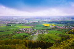 Picturesque view of small town from Hohenzollern Stock Photos
