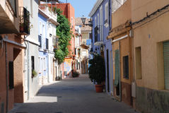 Picturesque view in Spain. Picturesque view of the old center of Denia Spain stock image