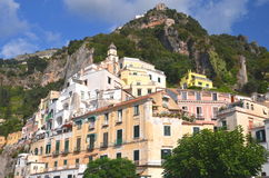 Picturesque view of summer resort  Amalfi, Italy Stock Photos