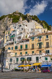 Picturesque view of summer resort Amalfi, Italy. Royalty Free Stock Photo
