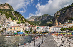 Picturesque view of summer resort Amalfi, Italy. Stock Image