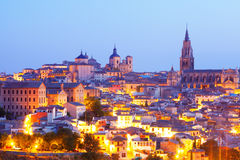 Picturesque view of Toledo in evening Stock Images