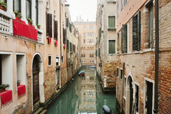 Picturesque view of venetian canal, Venice, Italy Royalty Free Stock Photography