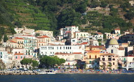 Picturesque view of village cetara on amalfi coast , italy Royalty Free Stock Image