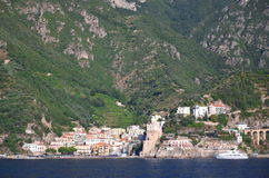 Picturesque view of village cetara on amalfi coast , italy Royalty Free Stock Photo