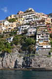 Picturesque view of village Positano, Italy Royalty Free Stock Images