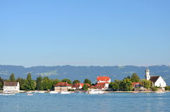 Picturesque view on Wasserburg on Lake Bodensee, Germany Royalty Free Stock Images