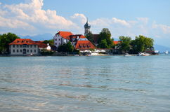 Picturesque view on Wasserburg on Lake Bodensee, Germany Royalty Free Stock Image