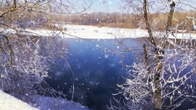 picturesque view of the winter lake Stock Photography