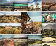 Picturesque views and sights of Lanzarote in Canary islands Royalty Free Stock Photos