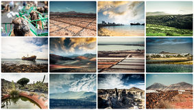 Picturesque views and sights of Lanzarote in Canary islands Royalty Free Stock Image