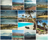 Picturesque views and sights of Lanzarote in Canary islands Stock Photography