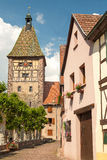 Picturesque village of Bergheim, Alsace France Stock Photo