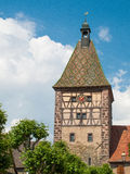 Picturesque village of Bergheim, Alsace France Stock Photos