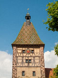Picturesque village of Bergheim, Alsace France Stock Photography