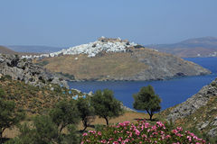 Picturesque village Chora on Astypalea Royalty Free Stock Photos