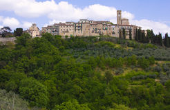 Picturesque village of Gualdo Cattaneo. In Umbria Stock Photography
