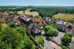 Picturesque village of Hautefort Stock Images