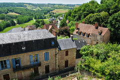 Picturesque village of Hautefort Royalty Free Stock Photo