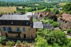 Picturesque village of Hautefort Stock Image