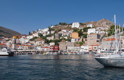 The picturesque village of Hydra island, Greece Royalty Free Stock Photos