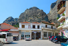 Picturesque village of Kalambaka, Meteors, Greece Stock Images
