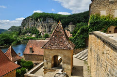 picturesque village of La Roque Gageac in Dordogne Royalty Free Stock Photo