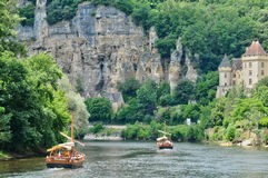 Picturesque village of La Roque Gageac in Dordogne Stock Photography