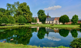 Picturesque village of Lisors in Normandie Royalty Free Stock Images