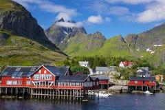 Picturesque village on Lofoten Stock Photos