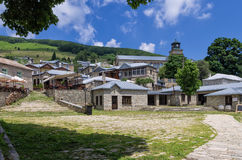 The picturesque village Nimfaio, in Florina, Greece Royalty Free Stock Images