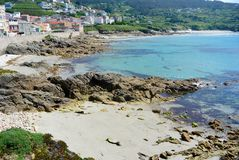 Picturesque village in Northern Spanish littoral Royalty Free Stock Images