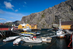 Picturesque village  Nusfjord Stock Images